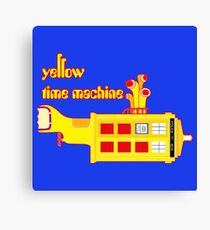 YELLOW TIME MACHINE PILLOW  Canvas Print