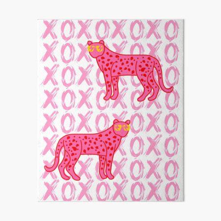 cheetah xoxo Art Board Print