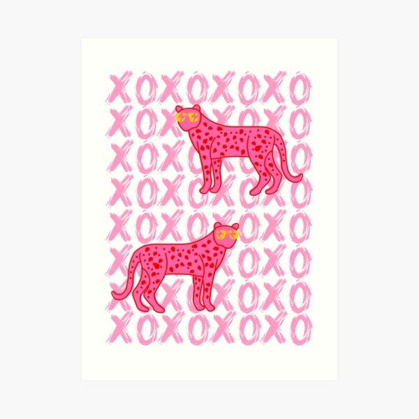 cheetah xoxo Art Print