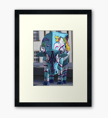 Painted Cow by Cathedral Youth, Ebrington Square Derry Framed Print