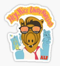 Lord help us, he's back in his pink Alf shirt Sticker