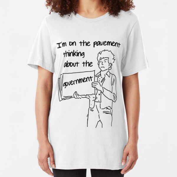 Classic music verses: Dylan on the pavement Slim Fit T-Shirt