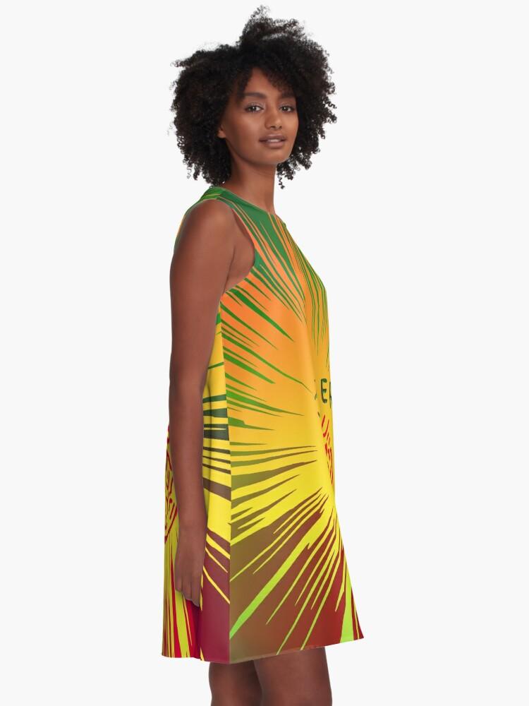 Alternate view of Yellow joker burst A-Line Dress