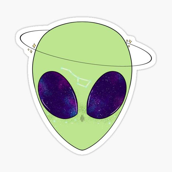 Star-Covered Alien Sticker