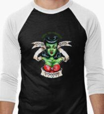 Zombie Voodoo Queen Men's Baseball ¾ T-Shirt