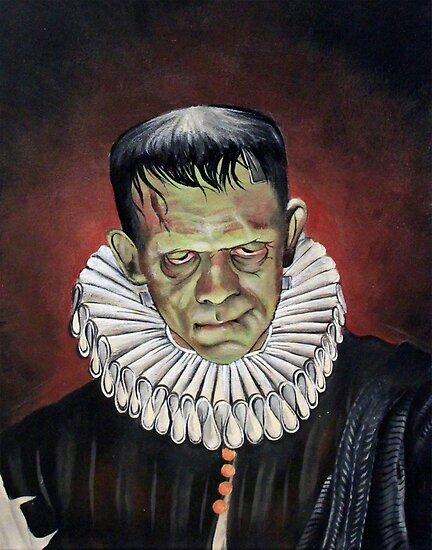 Renaissance Victorian Portrait - Frankenstein by DontPanicDecor