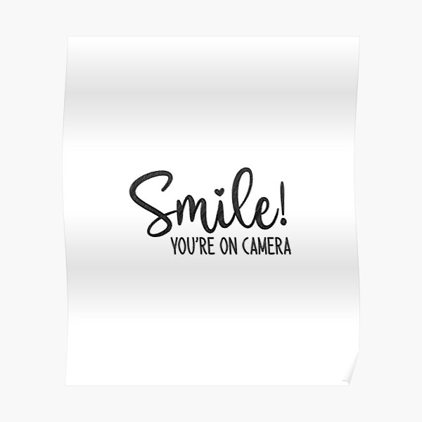 Smile You're On Camera, doormat Poster