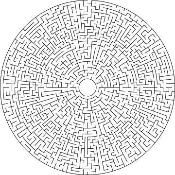 Round Maze - Black by Americ