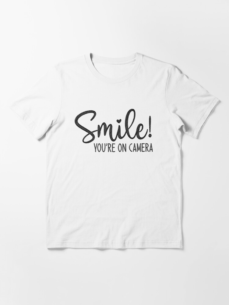 Alternate view of Smile You're On Camera, doormat Essential T-Shirt