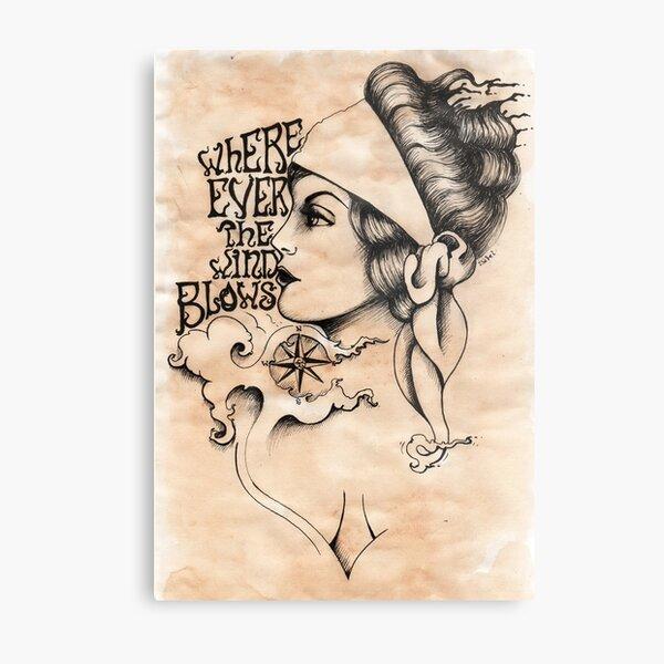 Gypsy- vintage tattoo style Metal Print