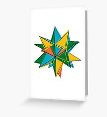 Abstract modern polygonal form Greeting Card