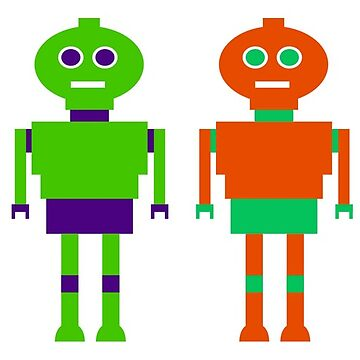 Colourful Robots by MerryPerry