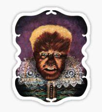 Renaissance Victorian Portrait - Wolfman Sticker