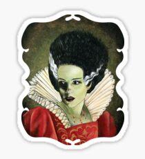Renaissance Victorian Portrait - Bride of Frankenstein Sticker