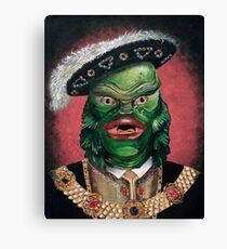 Renaissance Victorian Portrait - Creature from the Black Lagoon Canvas Print
