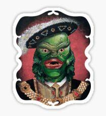 Renaissance Victorian Portrait - Creature from the Black Lagoon Sticker