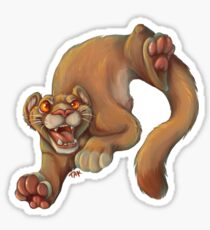 Bouncy Puma Sticker