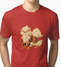 Arcanine Pokemon Simple No Borders Tri-blend T-Shirt