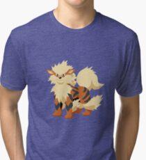 Arcanine Pokemon Simple No Borders Tri-blend T-Shirt