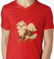 Arcanine Pokemon Simple No Borders Men's V-Neck T-Shirt