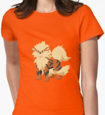 Arcanine Pokemon Simple No Borders Women's Fitted T-Shirt