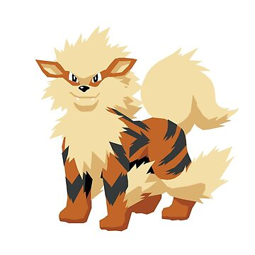Arcanine Pokemon Simple No Borders by mrrj