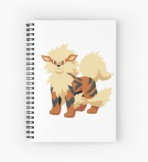 Arcanine Pokemon Simple No Borders Spiral Notebook