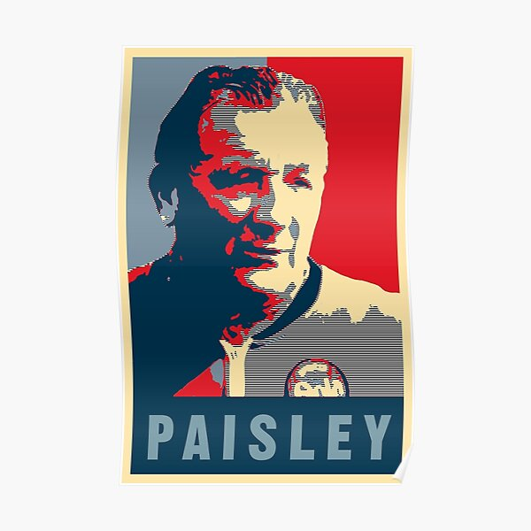 Bob Paisley with European Cup Poster