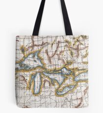 Vintage Map of The Great Lakes & Canada (1780) Tote Bag