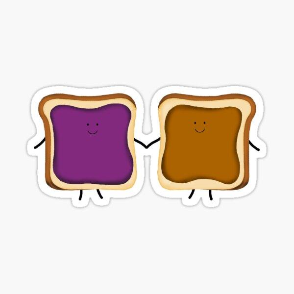 Peanut Butter & Jelly Friends Sticker