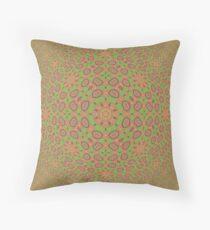Optical Illusion Fractal Pattern Throw Pillow