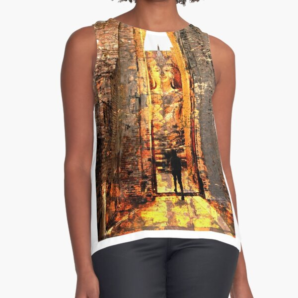 Buddha Sunrise Sri Chum Temple Sleeveless Top