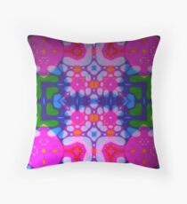 Green Blue Pink Abstract Throw Pillow