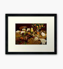 Festive Table Framed Print