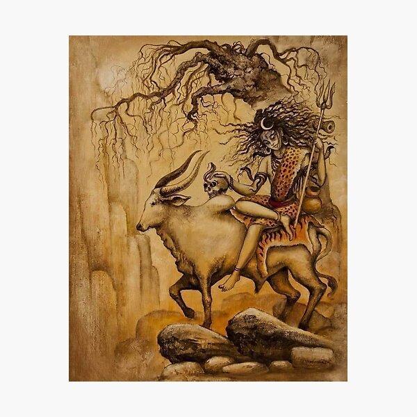 Abstract Shiva & Nandi Photographic Print