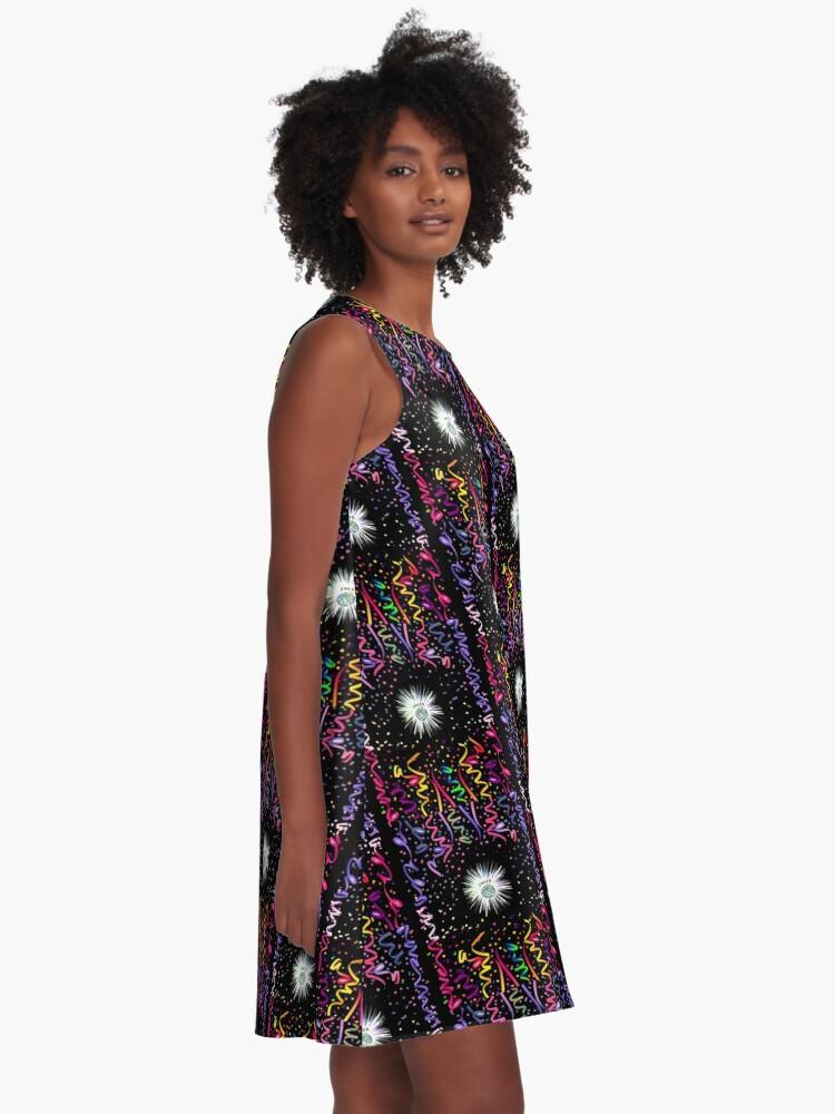 Alternate view of joker black confetti A-Line Dress