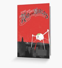 The War of the Worlds Poster Greeting Card