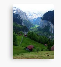 Lauterbrunnen, Late Afternoon Canvas Print