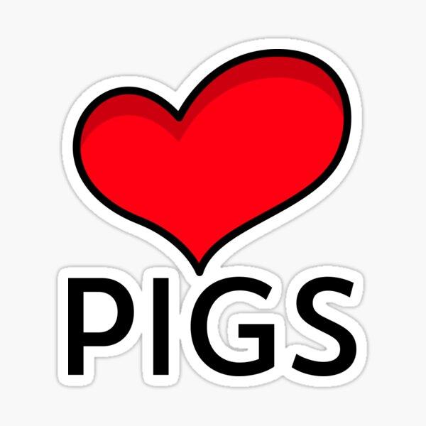Love Pigs Sticker