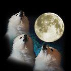 Gabe the Dog - Three Gabe Moon by kryptolith