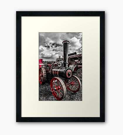Foster Traction Engine Framed Print