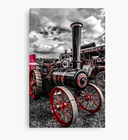 Foster Traction Engine Canvas Print