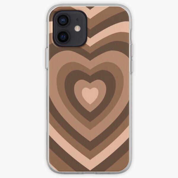 Étui phonecœur marron Coque souple iPhone
