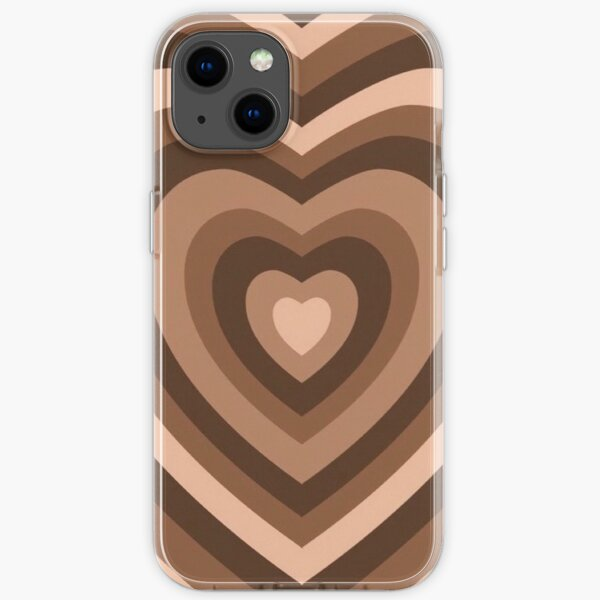 Brown heart phonecase iPhone Soft Case