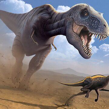 Tyrannosaurus Rex - Cretaceous Showdown by magarlick