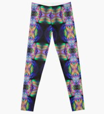 Painting with Light Black Green Pink Purple Yellow Lights Leggings