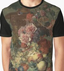 Flowers and Fruit Vintage Graphic T-Shirt