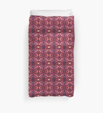 Symmetrical Fractal  Pink Yellow Pink Red Duvet Cover