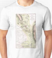 Vintage Map of Sparta Greece (1783) Unisex T-Shirt