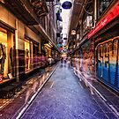 Melbourne's famous laneways by Adriano Carrideo